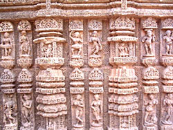 Orissa - Stonecarving at Konark