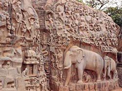Mahabalipuram -  Arjuna`s  Penance Rock Carving