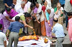 Before the cremation or Anteshthi Kriya