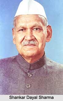 Shankar Dayal Sharma  , Ninth President of  India