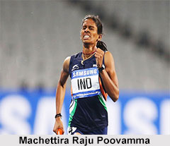 Machettira Raju Poovamma, Indian Sprinter