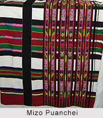 Puanchei, Fabric of Mizo Kukis, Textiles of Manipur