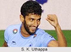 Sannuvanda Kushalappa Uthappa, Indian Hockey Player