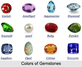 Colors of Gemstones, Astrology