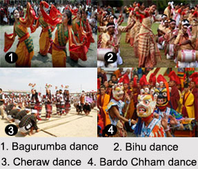 Northeast Indian Dances, Indian Dances