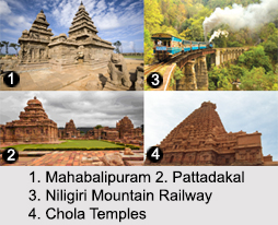 World Heritage Monuments in the South India, Indian Monuments