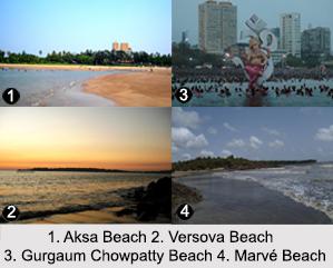 Beaches in Mumbai, Beaches of India