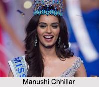Manushi Chhillar, Noyonita Lodh, Indian Beauty Pageant Winner