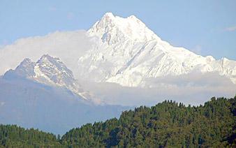 peaks at Kanchenjunga in sikkim