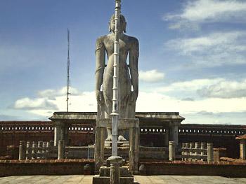 Statue of Bhagwan Mahabali at Karkala, Karnataka