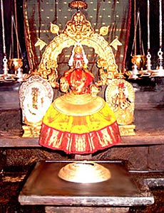 The sacred shrine of Devi Mookambika