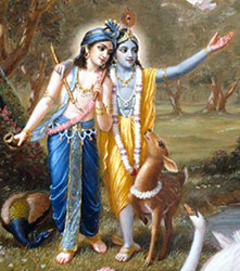 Balarama With Lord Krishna