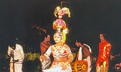 karagam is the most famous dance, executed in the front of idol of Goddess Mariamman