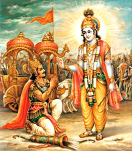 Krishna preaching Arjuna - Karma Yoga, The Path of Action