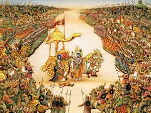 Battle at Kurukshetra, Mahabharata