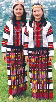 Costumes of Mizoram - Ladies in Puan