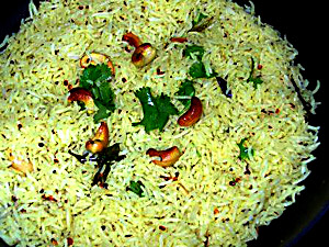 Lemon Rice, Indian Food