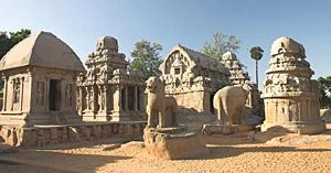 Mahabalipuram Monuments in the South India