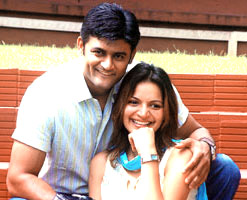 Manav Gohil and his wife Shweta