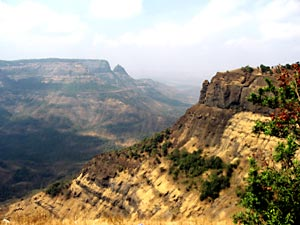 Western Ghat hills at Matheran in Maharashtra, India