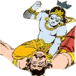 Narakasura and lord krishna