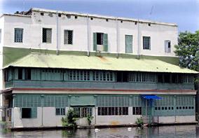 Back view of Narasinha Dutt College Campus