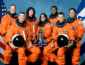 seven member of the space shuttle columbia
