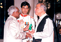 Ismail Merchant was awarded the Padma Bhushan in 2002