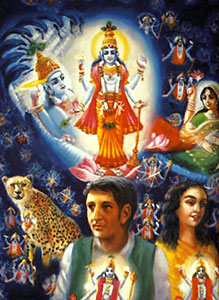 In the Hindu Puranas Paramatma, Supreme Spirit is located in the heart of every individual or jiva in the macrocosm
