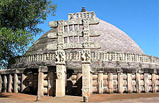 the symbol of the great stupa and sanchi an architectural monument in india Stupas became a cosmic symbol in response to a major human condition: death   northern gateway, great stupa, sanchi  buddhist architecture stupa.