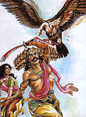 Sita crossed the Lakshmana Rekha thus, Ravana was able to seize Sita safely