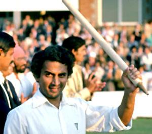 West Zone batsmen S Gavaskar