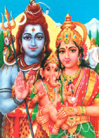 Shiv & Parvati with Ganesha