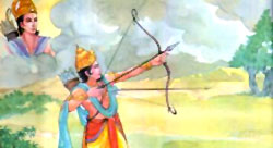 Satrughna killing Lavanasura
