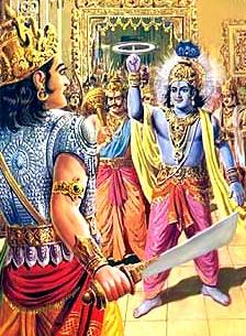 Shishupala Vadh - Shishupala and Krishna