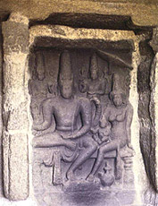 Mahabalipuram Shore Temple - Sculpture of Lord Shiva And Parvati
