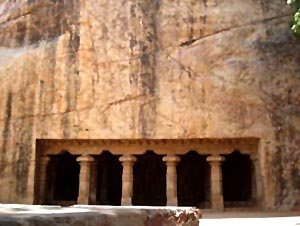 Thiruvellarai Pallava cave in Trichy, Tamil Nadu, South India