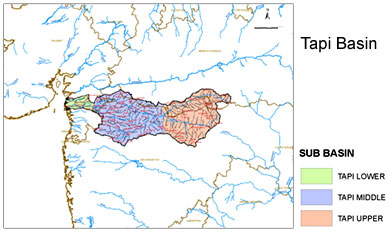 Geography Of Tapti River, Indian River