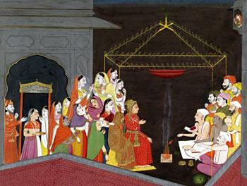 Marriage, Indian Ritual - Marriage of Vasudev and Devki