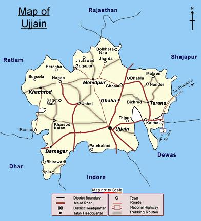 Ujjain map