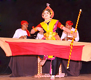 Yakshagana -  the female roles are portrayed by male actor