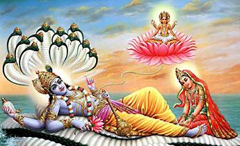 Vishnu, the lord of the universe