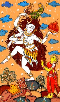 Lord Shiva's Ananda Tandava - According to some of the ancient scriptures and religious tales Lord Shiva was the initiator of the mudras. His celestial dance Ananda Tandava' involves usage of some mudras