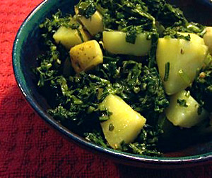 Aalu Palak Saag, Indian Food