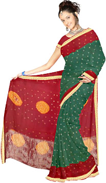 Bandhani  Sarees, Sarees of West India