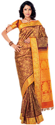 Gujarati Brocade Saree, Sarees of West India