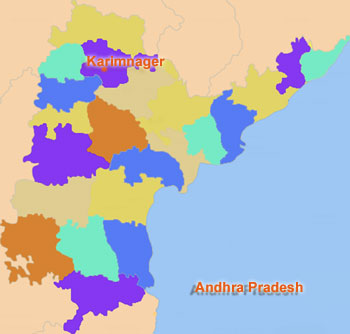 Geography Of Karimnagar District, Andhra Pradesh