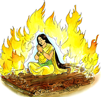 Agni pariksha of Sita