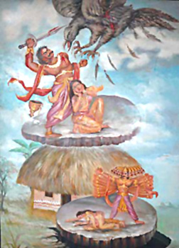 Confrontation of Jatayu with Ravana