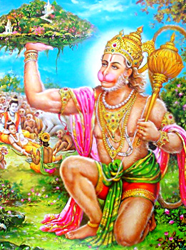 Hanuman Brings Sanjeevani Buti, Yuddha Kanda, Ramayana